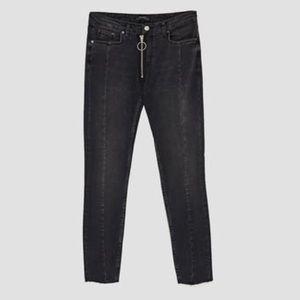 Zara dark grey skinny jeans